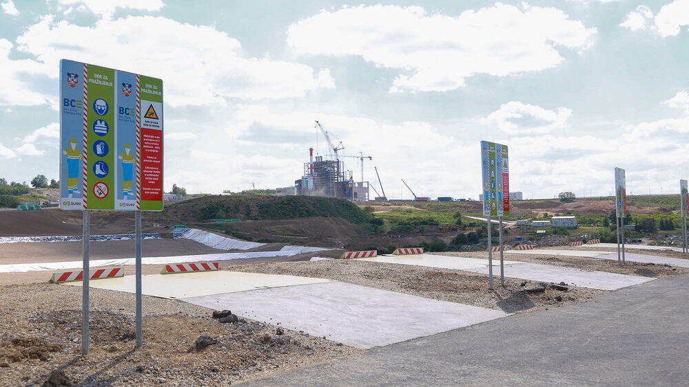 Construction site works - New landfill - 4 June 2021
